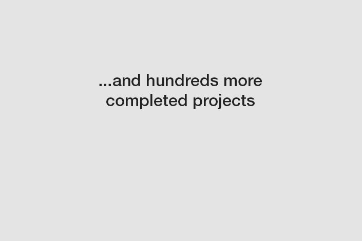 ...and hundreds more completed projects.