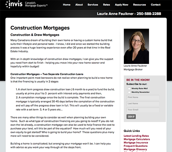 Invis Construction Mortgages
