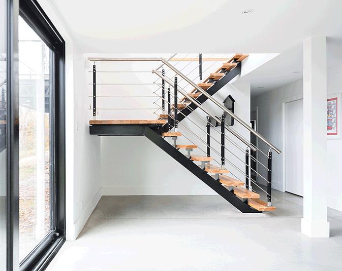 Escalier intégré structurellement