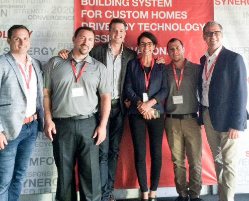 Shaw Lee (Blu Realty), John Rosse (TERRAMechomes), Todd Talbot (Blu Realty and TV personality), Michelle Tremblay (VP and cofounder BONE Structure), Jason De Los Santos (TERRAMechomes Ltd.), Marc Bovet (CEO and cofounder BONE Structure)