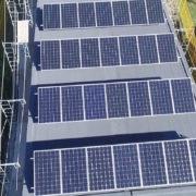 Solar panels on a BONE Structure Net Zero Home
