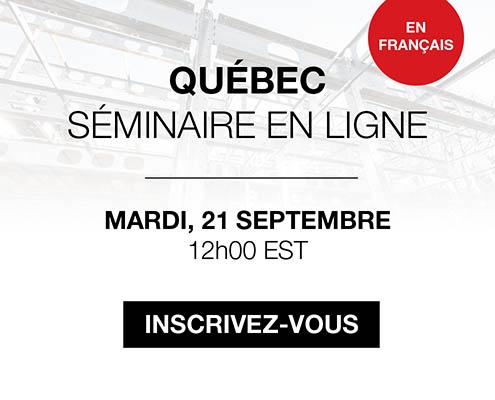 Séminaire en ligne: Québec